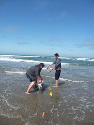 The last sand crabbing trip of 2012